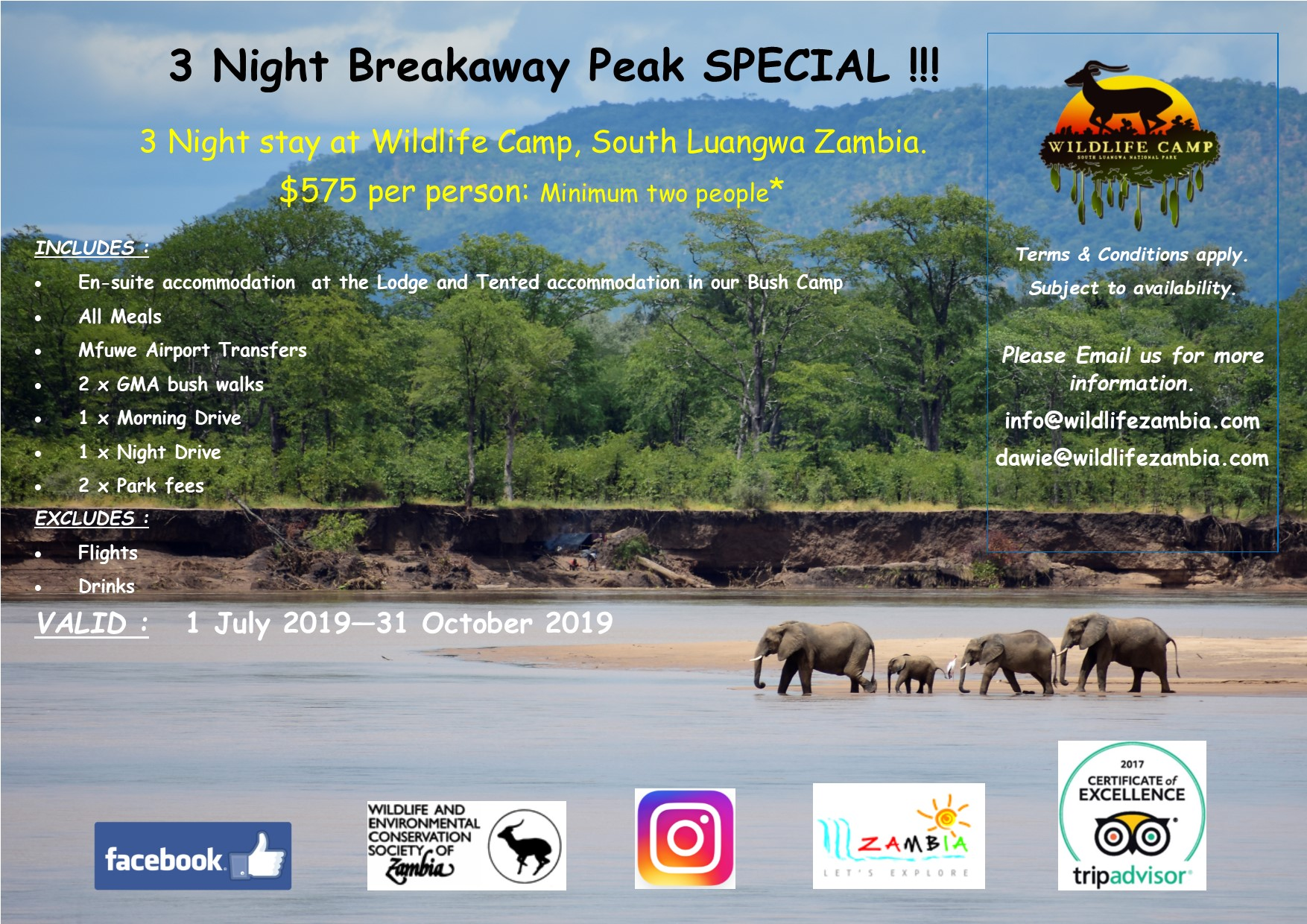 South Luangwa National Park Zambia Wildlife Camp